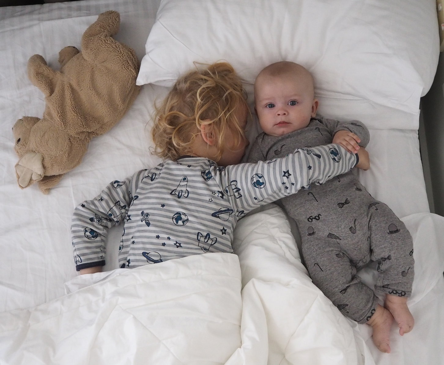 co-sleeping brothers